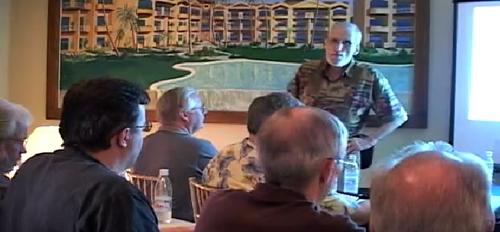 Дэвид проводит семинар по методу Вайкоффа