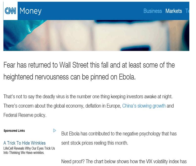 Новость на информационном ресурсе CNN MONEY
